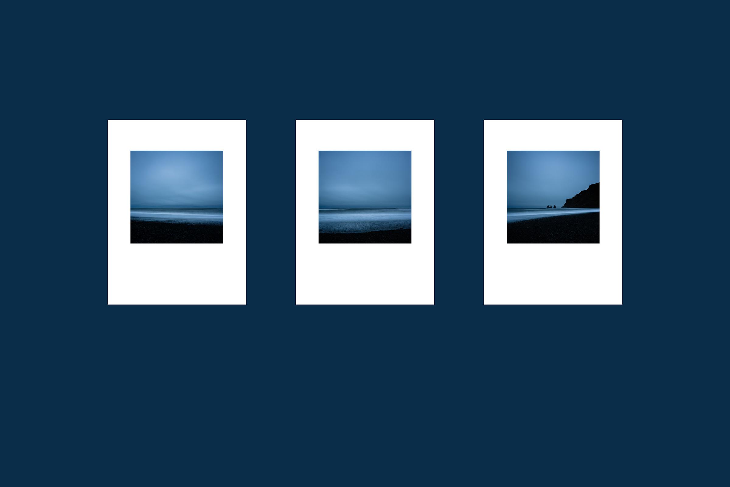 Triptychon. Limitierte Fine Art Prints. Black Beach I - III.